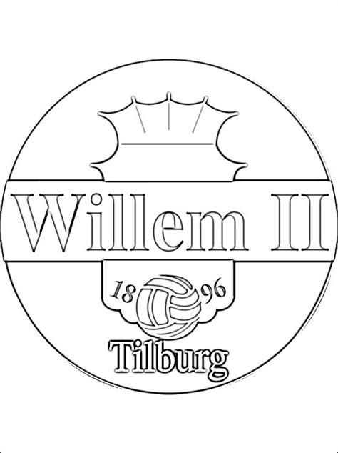 willem ii logo kleurplaat gratis kleurplaten