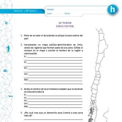 HI05 OA 09 Grandes zonas de Chile y sus paisajes
