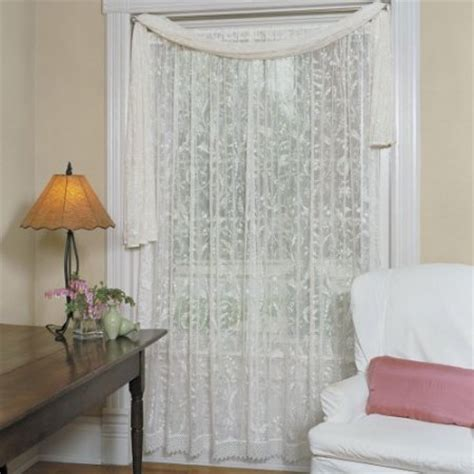 heritage lace coventry curtain panel with trim walmart com