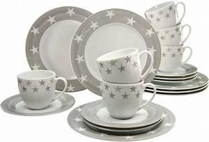 Geschirr Porzellan Weiß : creatable kaffeeservice porzellan 18 teile sterne online kaufen otto ~ Markanthonyermac.com Haus und Dekorationen