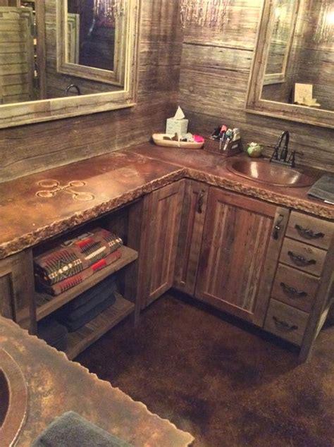 Rustic Concrete Countertops  Rustic  Bathroom Dallas