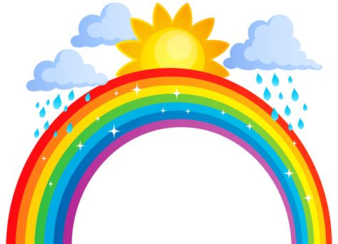 Sun Cloud Rainbow Clipart