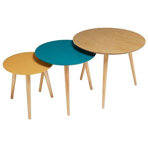 tables gigognes vintage tricolores fjord maisons du monde