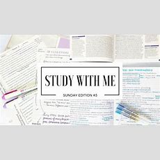 Study With Me  Sunday Edition #3 Youtube