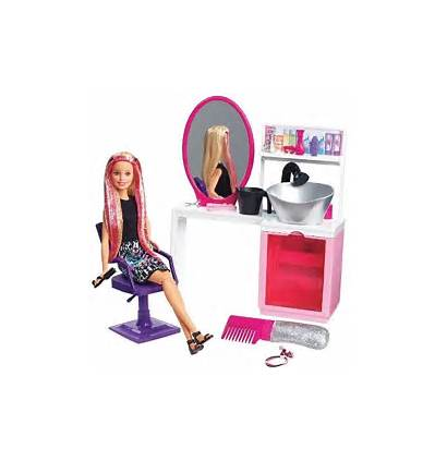Barbie Salon Doll Sparkle Hair Playset Blonde