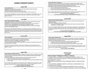 How To Write A Thematic Essay Examples Topics