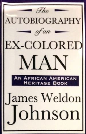 the autobiography of an ex colored summary weldon johnson biography poems books study