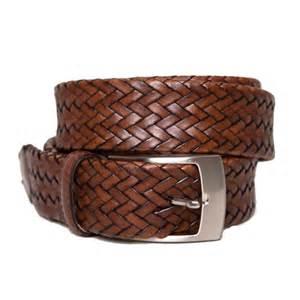 Men's Woven Leather Belts