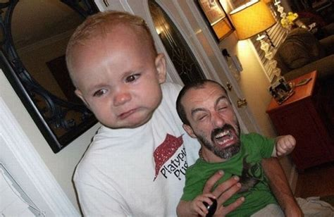 funny parentbaby face swaps mustachioed baby memes