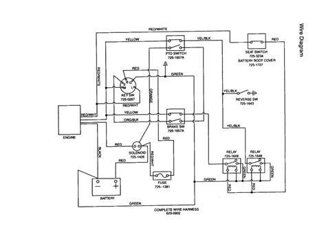 mtd lawn mower wiring diagram untpikapps