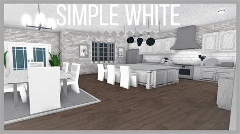 roblox   bloxburg simple white kitchen youtube