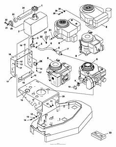 Bunton  Bobcat  Ryan 930002 Power Unit 16 Hp B U0026s Gear Drive Parts Diagram For Engine  U0026 Gas Tank