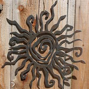 Rustic sun indoor outdoor wall decor by fttdesign on etsy