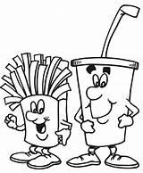 Coloring Pantry Drink Printable Fries Template sketch template