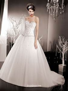 strapless organza wedding ball gown with corset bodice With corset ball gown wedding dresses