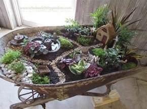 Wagon Wheel Garden Bench by Wheelbarrow Fairy Garden Ideas You Ll Love Video Tutorial