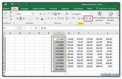 Decimalen Excel Afronden Een Hoe Kolom Er