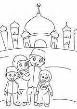 Coloring Pages Ramadan Muslim Mubarak Printable Adults sketch template