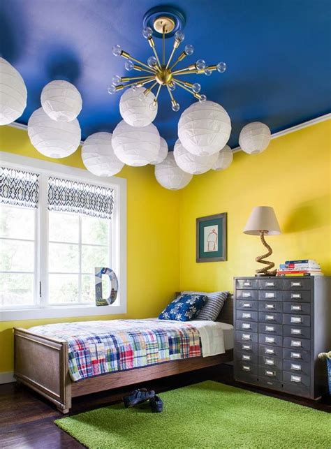 chambre jaune chambre jaune bleu design de maison