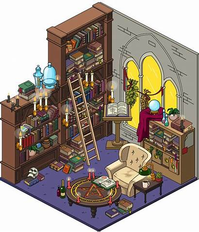 Library Occult Interior Spoilers Halloween Event Building