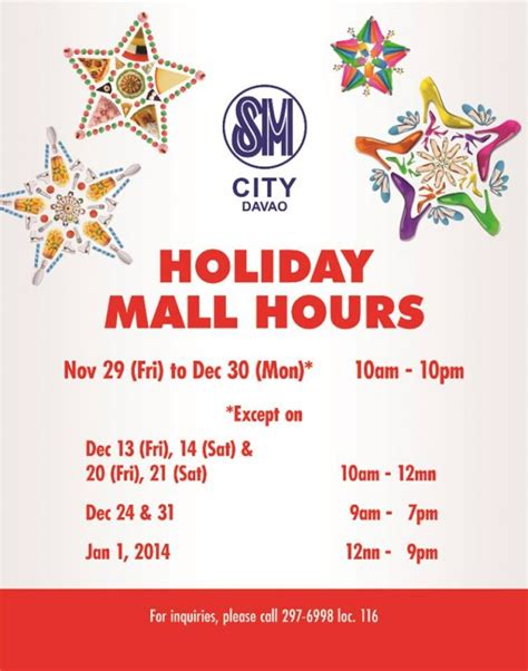 christmas holiday mall hours in davao davaobase