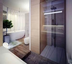 Badezimmer Regal Holz : 105 badezimmer design ideen stein und holz kombinieren ~ Frokenaadalensverden.com Haus und Dekorationen