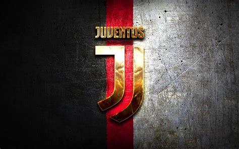 Download wallpapers Juventus FC, golden logo, Juve, black ...