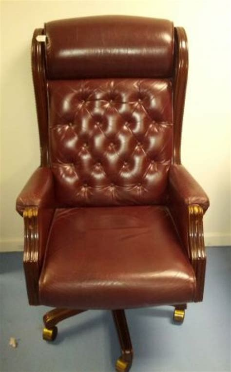 lazy boy presidential leather office chair 250 s
