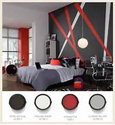 Red Black Grey White Bedroom by Colorfully BEHR Color On The Block