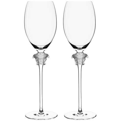 1376 versace wine glasses rosenthal versace medusa lumiere white wine glass set