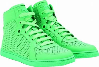 Neon Gucci Sneakers Leather Wear Shoes Tops