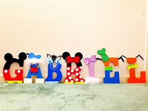 mickey mouse clubhouse letters dustin room pinterest With mickey mouse clubhouse letter stencils