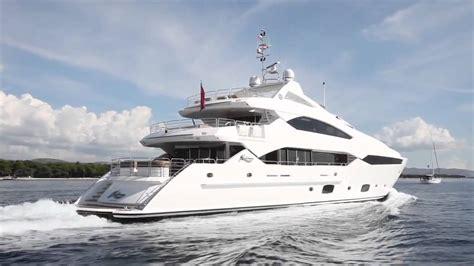 sunseeker  metre super yacht hd youtube