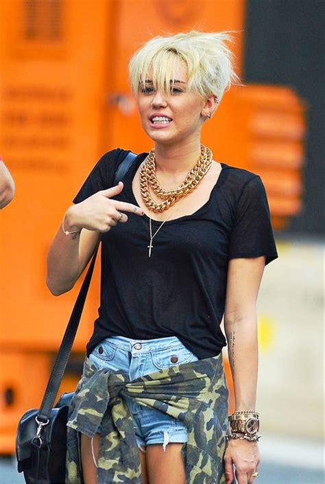 pictures of miley cyrus new pixie haircut
