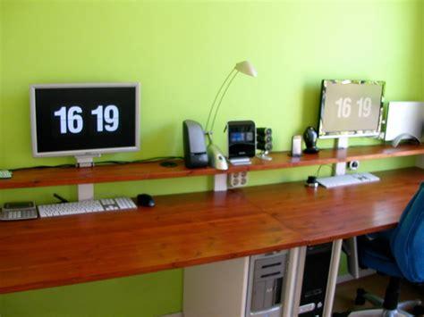 long wooden computer desk long computer desk decofurnish