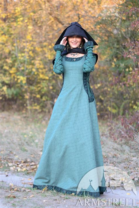 medieval natural flax lined dress  surcoat