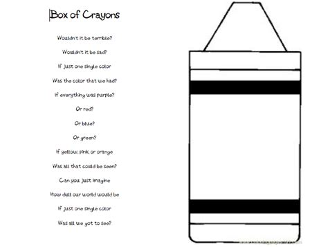 Crayon Template 6 Best Images Of Crayon Template Printable Color Crayon
