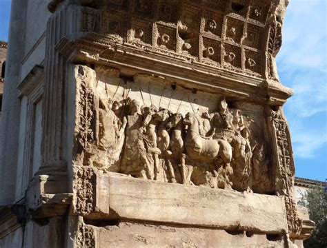 carved panel   arch  titus    roman