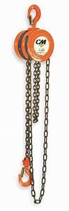 Cm Manual Chain Hoist  4000 Lb  Load Capacity  20 Ft