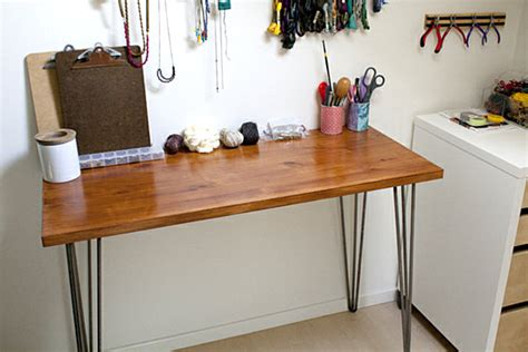 diy desk with hairpin legs 18 diy desks ideas that will enhance your home office