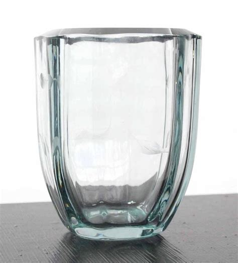 thick glass vintage vase  sale  stdibs