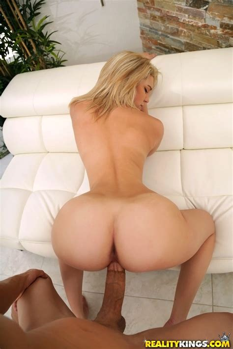petite blonde offers up her sexy ass for a doggystyle banging