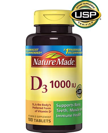 nature made vitamin d3 1000 iu tablet