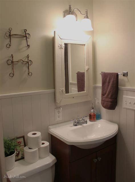 bathroom remodel installing shiplap  paneling  tile hawk hill