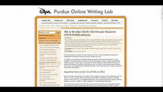 Citing In MLA Format With Purdue Owl YouTube Gallery For Apa Website Citation In Text How To Cite Your Sources Citations And References Explained MLA Set Up Kirkland English