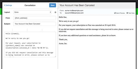 email membership card template cancellation emails learn how and why to use this new feature