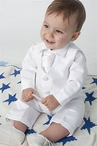 4 Piece Leo Christening Suit in White - Boys Christening ...