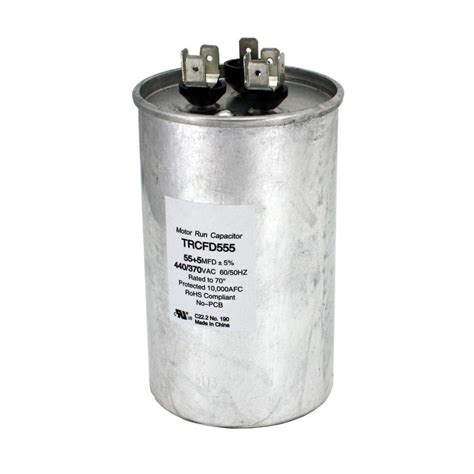 fan capacitor home depot packard 440 volt 55 5 mfd dual rated motor run round