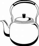 Kettle Clipart Tea Kettles Clip Cliparts Clipground Pot Teapot Coloring Sketch Library Template Templates Steam sketch template