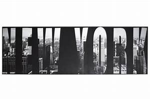Tableau Deco Noir Et Blanc : tableau noir et blanc new york 45 x 140 cm tableau design tableau villes declikdeco ~ Melissatoandfro.com Idées de Décoration